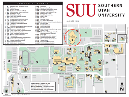 southern utah university campus map Suu Std Wfr Apr 2020